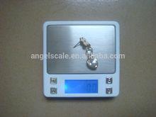 2000g X 0.1g LCD Display Mini Digital Pocket Platform Electronic Jewelry Scale