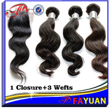 7A grade virgin Soft & clean & healthy natura 100% wavy human hair extensions