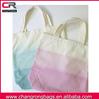 2014 dip dyed cotton canvas tote bag , multi color cotton tote bags , colorful canvas wholesale tote bags
