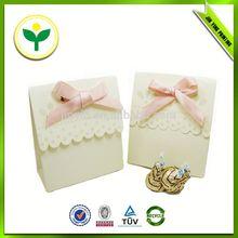 2014 popular white wedding candy box