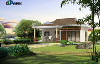 prefabricated villa ,economic prefab modular house for living,small villa design