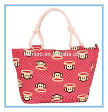 2014 fashion China red animal printed shoulder bag handbag handle rope wholesalers