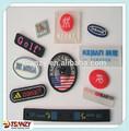 Etiquetas adesivas para sacosdeplástico, roupa, esporte, pvc etiqueta de borracha,