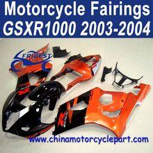 2003 2004 For SUZUKI GSXR 1000 Hot Sale Motorcycle Fairings Orange And Black FFKSU008