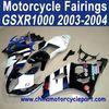2003 2004 For SUZUKI GSXR 1000 Motorcycle Fairing White Black Elf FFKSU008