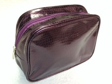 Embossed travel - cosmetic bag with zipper closure Make Up Bag