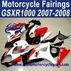 2007 2008 For SUZUKI GSXR 1000 Moto Fairing White Red Black FFKSU010