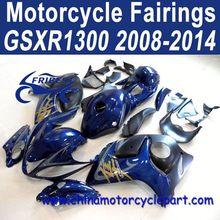 2008-2014 For Suzuki GSXR1300 For Hayabusa Fairings Nevy Blue Withe Tank FFKSU013