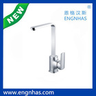 Brass deck mounted kitchen tap