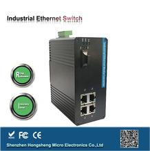 Anti Vibration, Isolation ,Surge Protection, Redundant Ring 1000M FX 5-port industrial poe switch