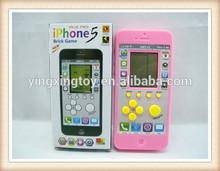 kids plastic electronic phone brick game toy