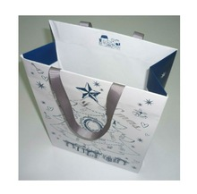 top quality customized 2014 Christmas theme snowflake gift paper packaging bags