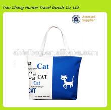 Hot Sale small cat tote shopping bag, portable printing polyester shopping bag