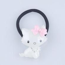 White cat cartoon Wholesale fashion kids accessories hair band resin elastic classic hair band