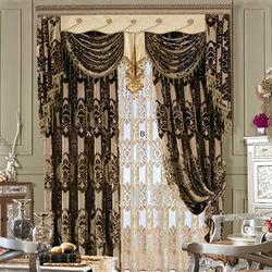 China custom lace curtains