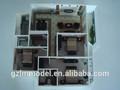 nice miniatura modelos arquitetônicos para a casa quarto de layout definido