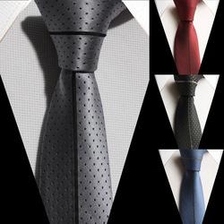 Luxury Panel necktie designers woven microfiber tie Polk dots with stripe