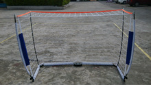 2 Soccer Goals 6'x4' Ft Each Steel Tubes. With Nets and Anchor Pegs