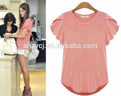 2015 new short sleeve women tops summer t shirt ladies simple fashion blouse