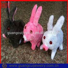 Fashion plush electronic activated toy sound rabbit walking with Flash eye