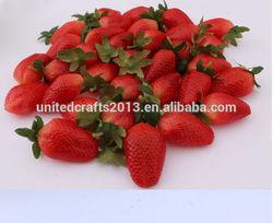 plastic honey strawberry for wedding basket decoration/cheap artificial fruit strawberry home design/plastic strawberry souvenir