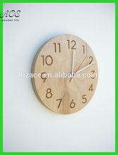 Modern wood wall clock Home decorative wood wall clock Home goods wood wall clocks