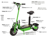 1500w lithium electric scooter/angel electric scooter/electric scooter free shipping