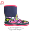 2014 butterfly girls' neoprene boots winter boots waterproof rubber shoes
