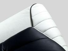 leather sofa in L shape with modern design corner sofa for living room furniture
