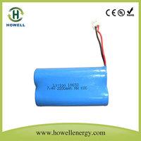 portable dvd player battery li ion battery 7.4v