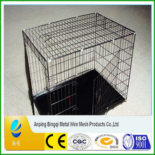 Folding Dog cage , Foldable Dog Crate, 2 Doors Easy to Carry