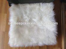 Good quality antique sheepskin baby pushchair cushion