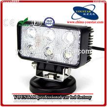 18W 6 LED White Spot Work Light Lamp Rectangle Shape for Offroad Truck SUV ATV