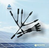 PV Cable Molding DC Assembly 4 to 2