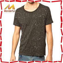 2014 Eye-catching novel design plain loose neck t-shirt manufacturer