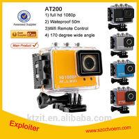 Waterproof 50M Wifi 30M Range 1080P Wireless HD Sport Camera