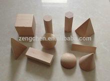 Preschool Wooden Educational Montessori Material EN71 Sensorial Toy Natural geometric solids