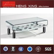Antique glass metal leg pop up coffee table mechanism