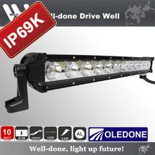 120W 21'' Oledone hot sale aluminum housing combo beam waterproof IP69K LED light bar for Racing WD-12N10