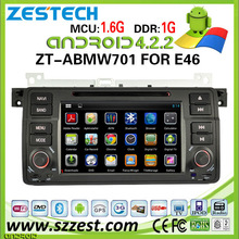 ZESTECH 4.2.2 Pure Android Car DVD Gps Navigation FOR BMW E46 M3 3 Series With Capacitive Screen DDR3 8GB Dual Core A9 WIFI 3G