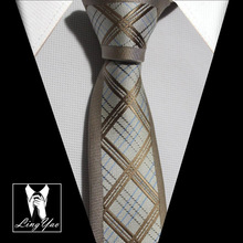 2014 New designers tie symmetric panel ties Coffee plaids with border