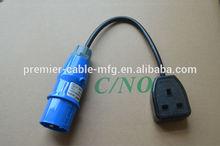 16Amp Plug to 13Amp Socket Fly Lead Adaptor
