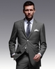 Super 130's 100%wool notch Lape two buttons l grey office uniform design