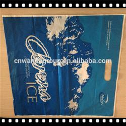 2014 Best Selling Direct Factory Wholesale Cheap die cut handle plastic bag