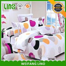 moon and start pattern 100% cotton 4pcs dubai bed sheet set