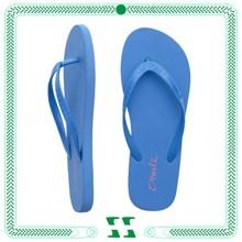 blue plain personized flip flops