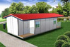 keep fit prefab steel structure container house with insulation material