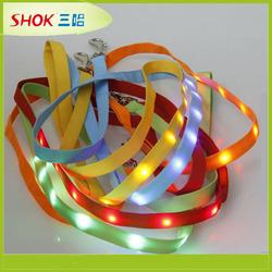 CE hot led dog collar pet collar slide letter dog collar