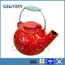 Enamel Coated Cast Iron Tea Kettle