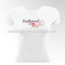 Personalized Black Tie Bridesmaid & Bride T-Shirts